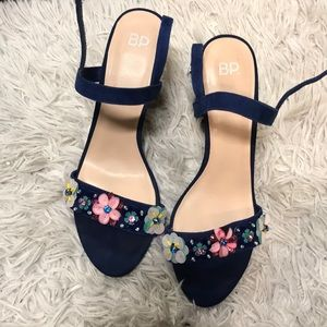 BP Heeled Sandals with Flowers